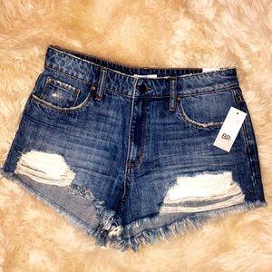 BP Denim High Waisted Shorts- Women's size 27